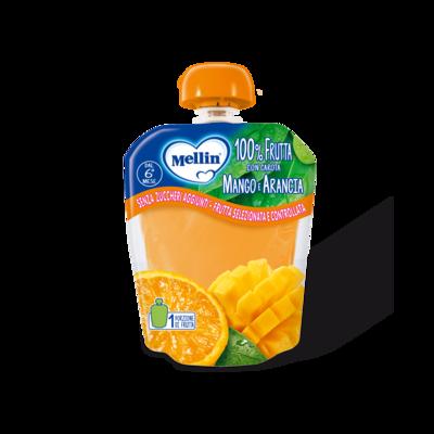Merenda 100% arancia e mango con carota